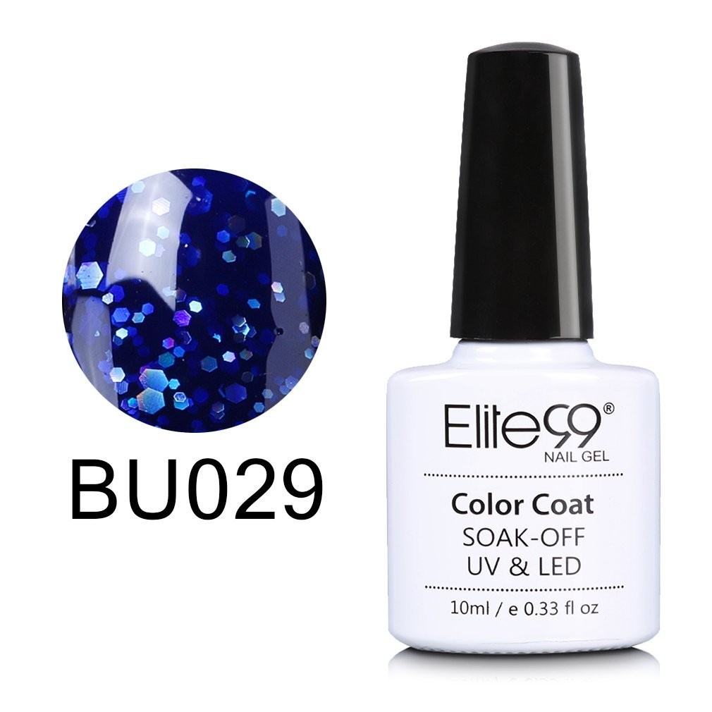 Elite99 Soak Off UV LED Gel Nail Polish Magic Blue Color Series ...