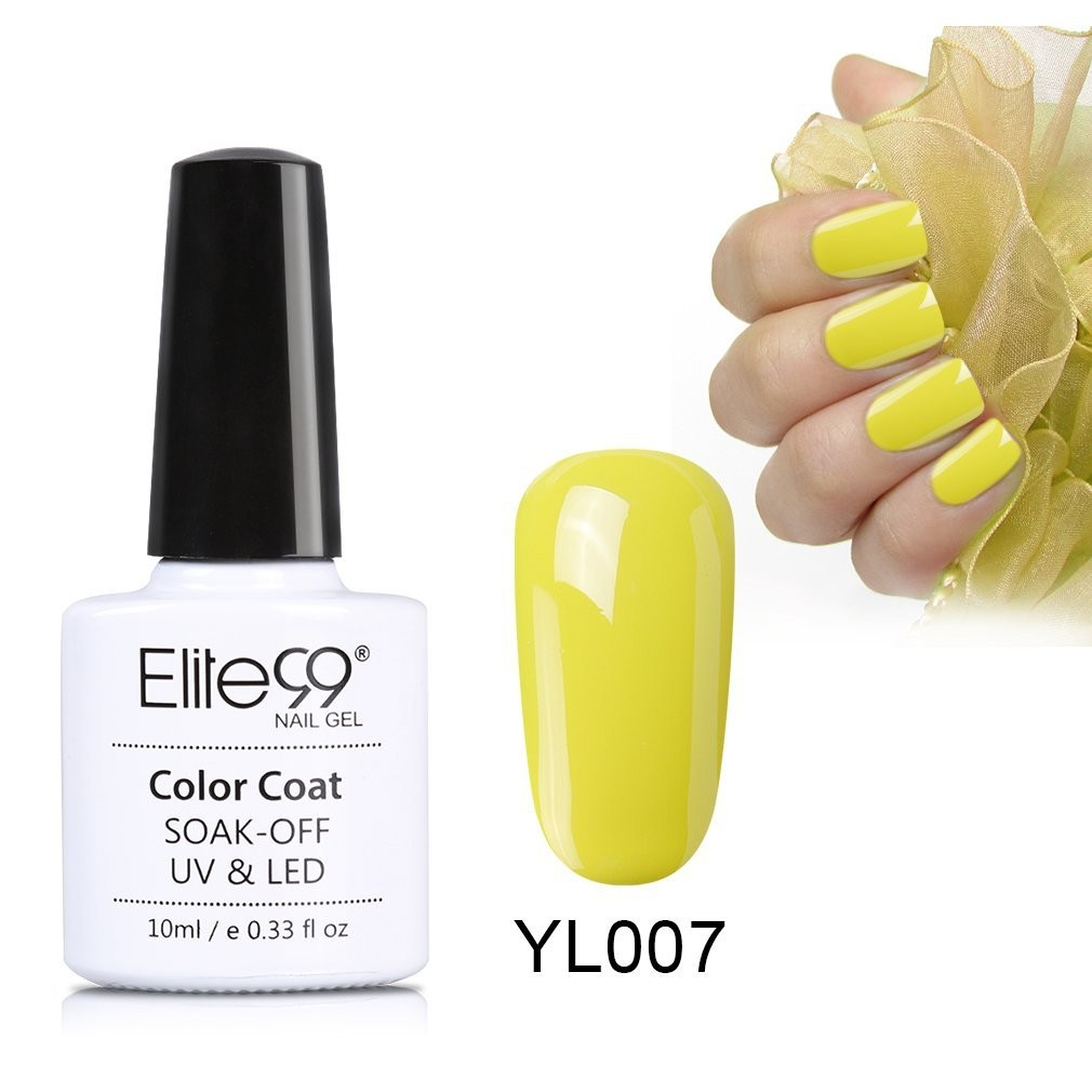 Elite99 Nude Yellow Series Nail Polish Nail Art Manicure Soak Off ...