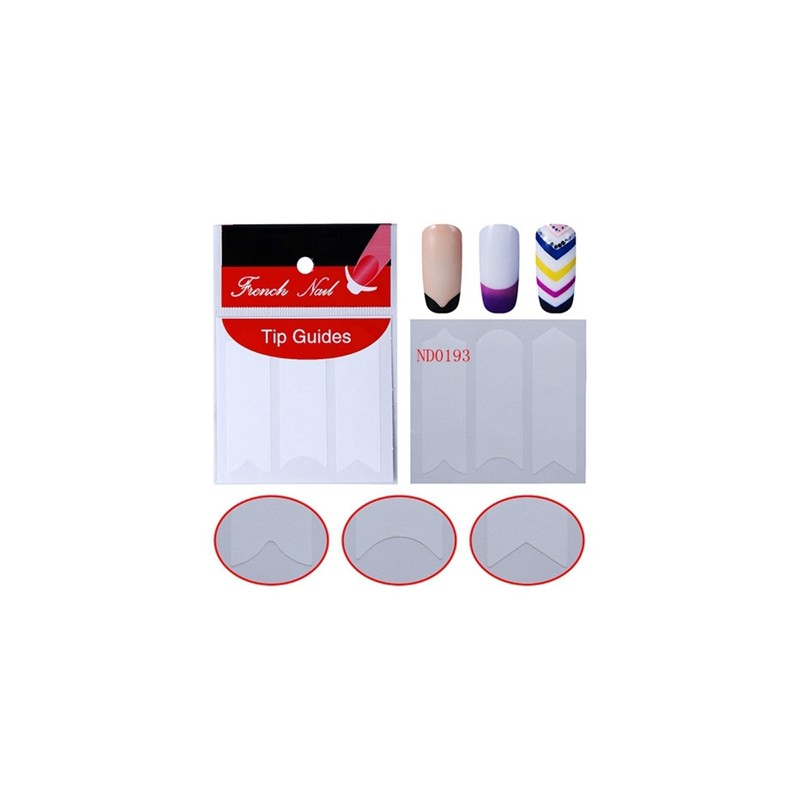 Elite99 French Manicure Nail Art Fringe Guides Sticker French ...