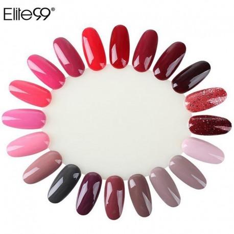 Elite99 Display Wheel Polish Color Chart Practice False Nails Tips Natural Nail Art Sticks