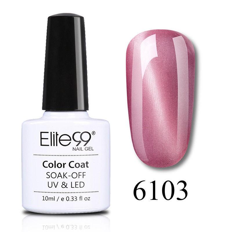 Elite99 Jade Effect Cat Eye Nail Polish Art Manicure Soak Off Colour Lacquer 10ml