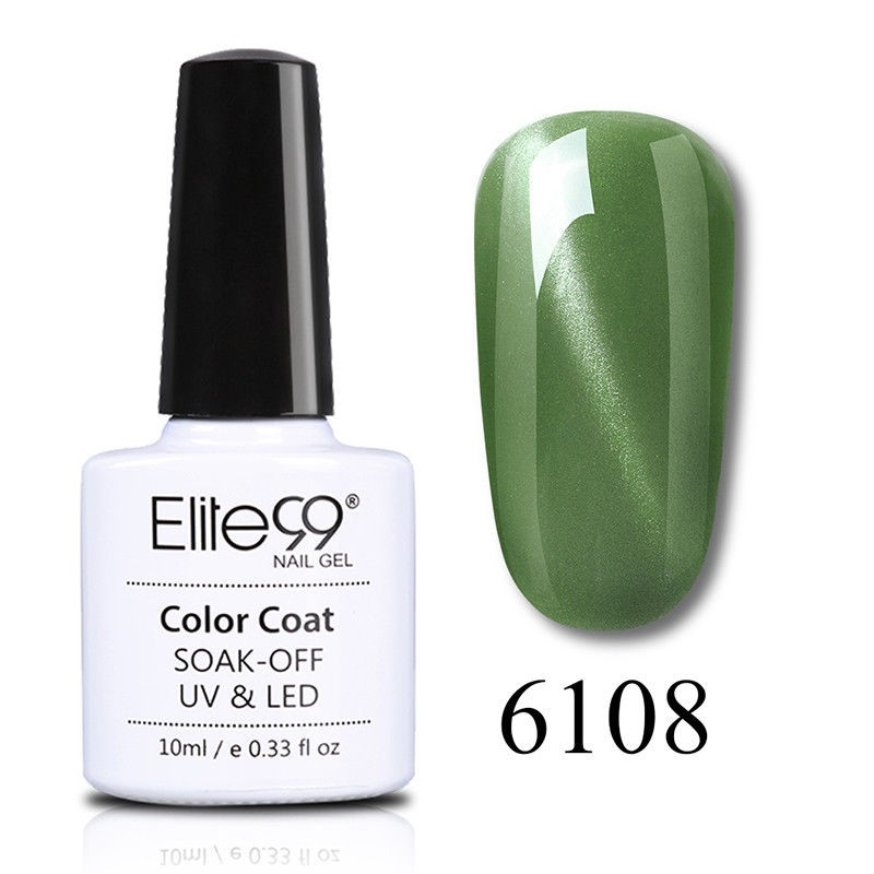 Elite99 Jade Effect Cat Eye Gel Nail Polish Lacquer 10ml 6108