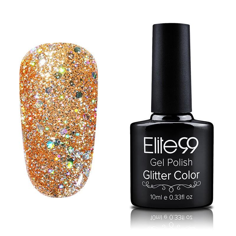 Elite99 Glitter Nail Polish Nail Art Manicure Soak Off Colour Nail ...