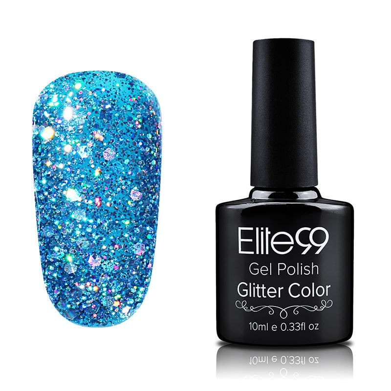 Elite99 Glitter Nail Polish Nail Art Manicure Soak Off Colour Nail ...
