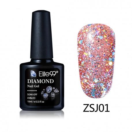 Elite99 Diamond Glitter gelinis lakas 10ml (ZSJ01)