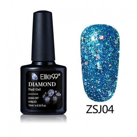 Elite99 Diamond Glitter gelinis lakas 10ml (ZSJ04)