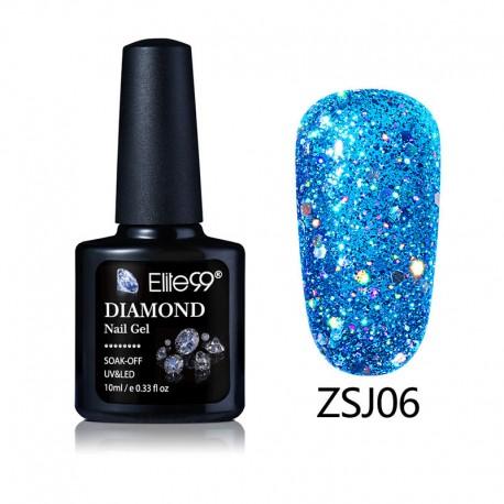 Elite99 Diamond Glitter gelinis lakas 10ml (ZSJ06)