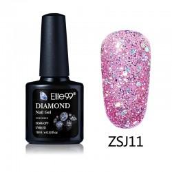 Elite99 Diamond Glitter gelinis lakas 10ml (ZSJ11)