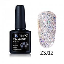 Elite99 Diamond Glitter gelinis lakas 10ml (ZSJ12)