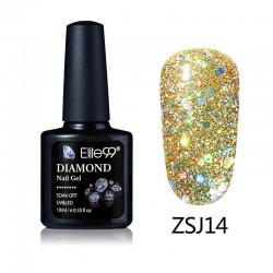 Elite99 Diamond Glitter gelinis lakas 10ml (ZSJ14)