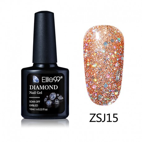 Elite99 Diamond Glitter gelinis lakas 10ml (ZSJ15)