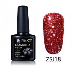 Elite99 Diamond Glitter gelinis lakas 10ml (ZSJ18)