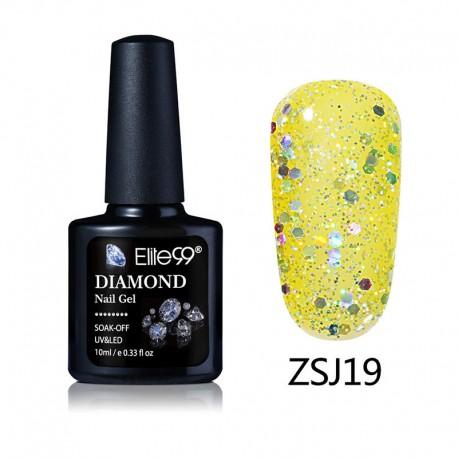 Elite99 Diamond Glitter gelinis lakas 10ml (ZSJ19)