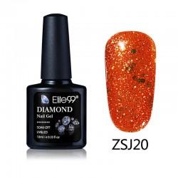 Elite99 Diamond Glitter gelinis lakas 10ml (ZSJ20)