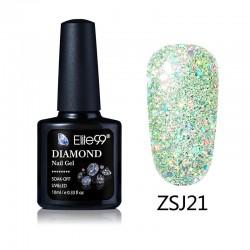 Elite99 Diamond Glitter gelinis lakas 10ml (ZSJ21)