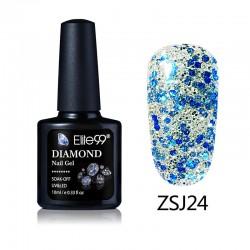 Elite99 Diamond Glitter gelinis lakas 10ml (ZSJ24)