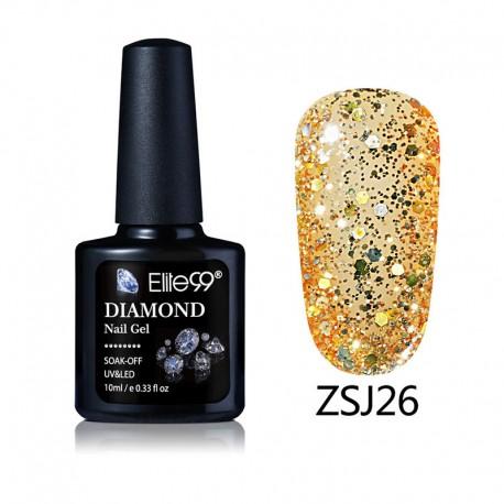 Elite99 Diamond Glitter gelinis lakas 10ml (ZSJ26)