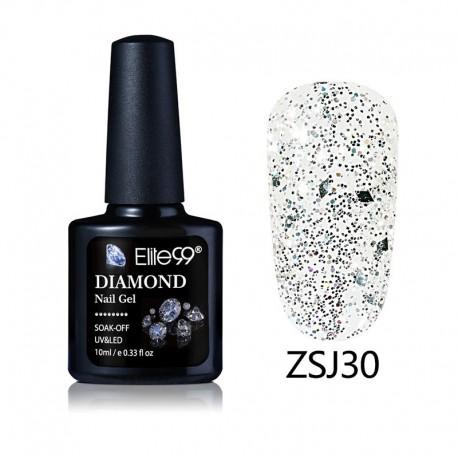 Elite99 Diamond Glitter gelinis lakas 10ml (ZSJ30)