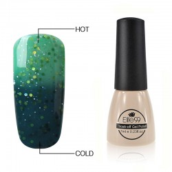 Elite99 Termo gelinis lakas 7ml (5725) Glitter Teal/Medium Aquamarine