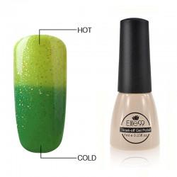Elite99 Termo gelinis lakas 7ml (5736) Glitter Grass Green/Green Yellow
