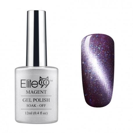 Elite99 12ML (6586) Magnetinis Glitter Dark Purple