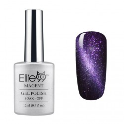 Elite99 Magnetic 3D Cat Eye Gel Polish Soak Off UV LED Nail Art 6596 Shimmer Clematis Blue