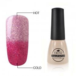 Elite99 Termo gelinis lakas 7ml (5738) Glitter Festival Fuchsia/Clear Pink