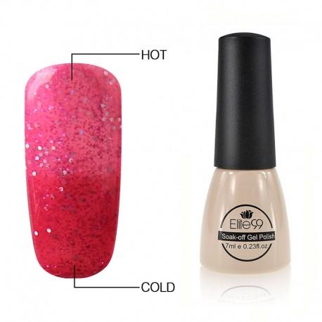 Elite99 7ML (5739) Glitter Raspberry/Bright Pink Termo