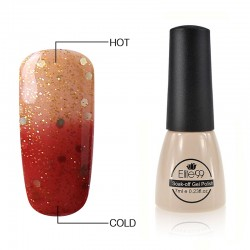 Elite99 Termo gelinis lakas 7ml (5745) Glitter Indianred/Bisque