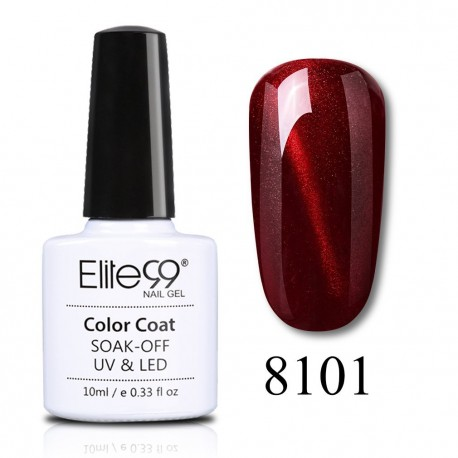 Elite99 Wine Red Cat Eye gelinis lakas 10ml (8101)