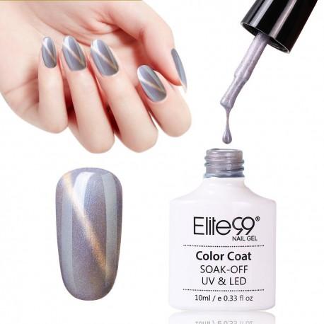 Elite99 Mermaid Shell Effect Cat Eye Gel Nail Polish Lacquer 10ml 7112