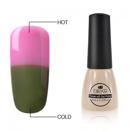 Elite99 Termo gelinis lakas 7ml (5011) Pink/Green