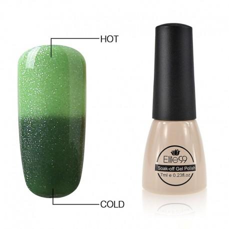 Elite99 Termo gelinis lakas 7ml (5014) Glitter Green/Dark Green