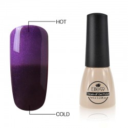 Elite99 Termo gelinis lakas 7ml (5021) Glitter Purple/Dark Purple