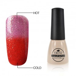 Elite99 Termo gelinis lakas 7ml (5025) Glitter Pink/Red