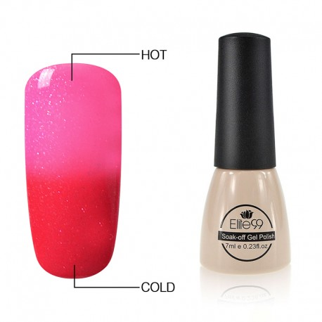 Elite99 Termo gelinis lakas 7ml (5034) Glitter Pink/Red