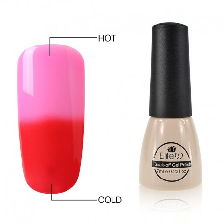 Elite99 Termo gelinis lakas 7ml (5038) Pink/Red