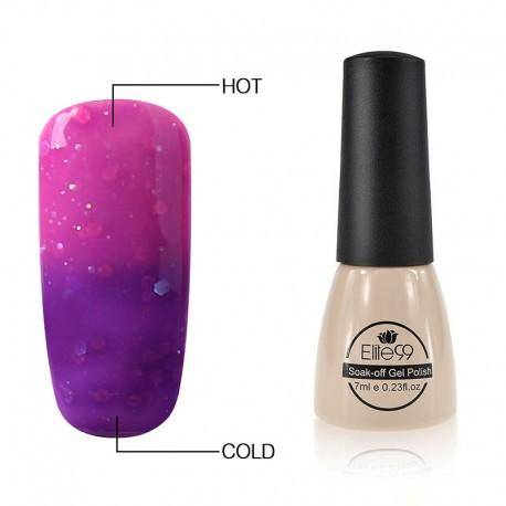 Elite99 Termo gelinis lakas 7ml (9039) Glitter Purple/Violet