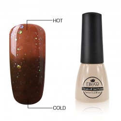 Elite99 Termo gelinis lakas 7ml (9040) Glitter Brown/Dark Brown