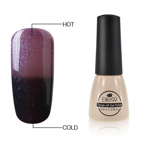 Elite99 Termo gelinis lakas 7ml (9047) Glitter Cherry Purple/Black