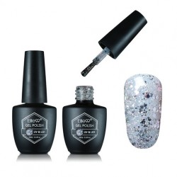ELITE99 Gelinis lakas UV-LED 10ml (G1853) Glitter Silver