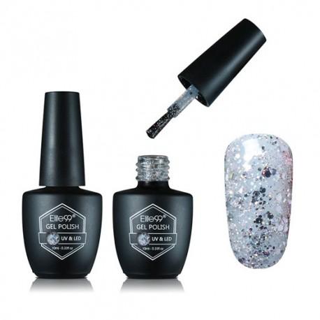 ELITE99 Gelinis lakas UV-LED 10ml (G1853) Glitter Silver