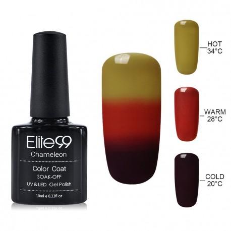 Elite99 Termo gelinis lakas 10ml (4226) Light Brown/Cherry Red