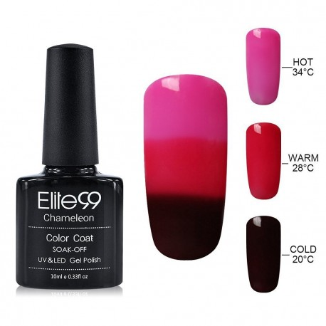 Elite99 Termo gelinis lakas 10ml (4228) Pink/Dark Red
