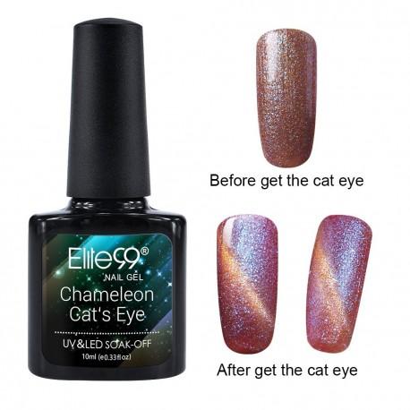 Elite99 Chameleon Cat Eye gelinis lakas 10ml (3320)