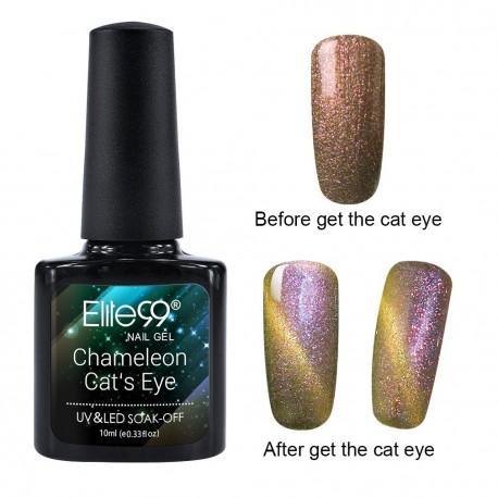 Elite99 Chameleon Cat Eye gelinis lakas 10ml (3323)