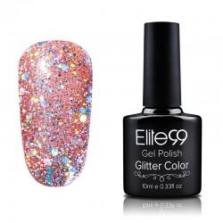 Elite99 Glitter gelinis lakas 10ml (GC001) Glitter Rosy Brown