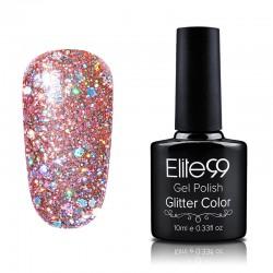 Elite99 Glitter gelinis lakas 10ml (GC006) Orangered