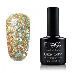 Elite99 Glitter gelinis lakas 10ml (GC007) Light Salmon