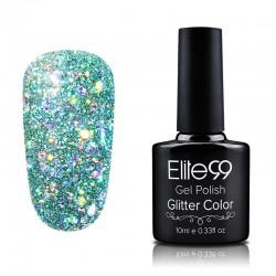 Elite99 Glitter gelinis lakas 10ml (GC008) Pinkish Green